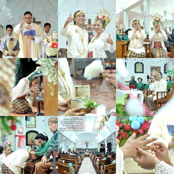 Foto Pemberkatan Sakramen Pernikahan di Gereja Katolik Bedog Jogja Yogyakarta