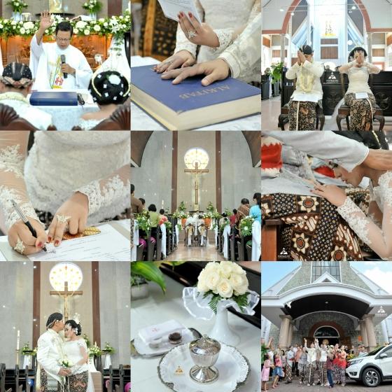 Foto Sakramen Pemberkatan Nikah Nila+Gigih di Gereja Katolik Kidul Loji Jogja